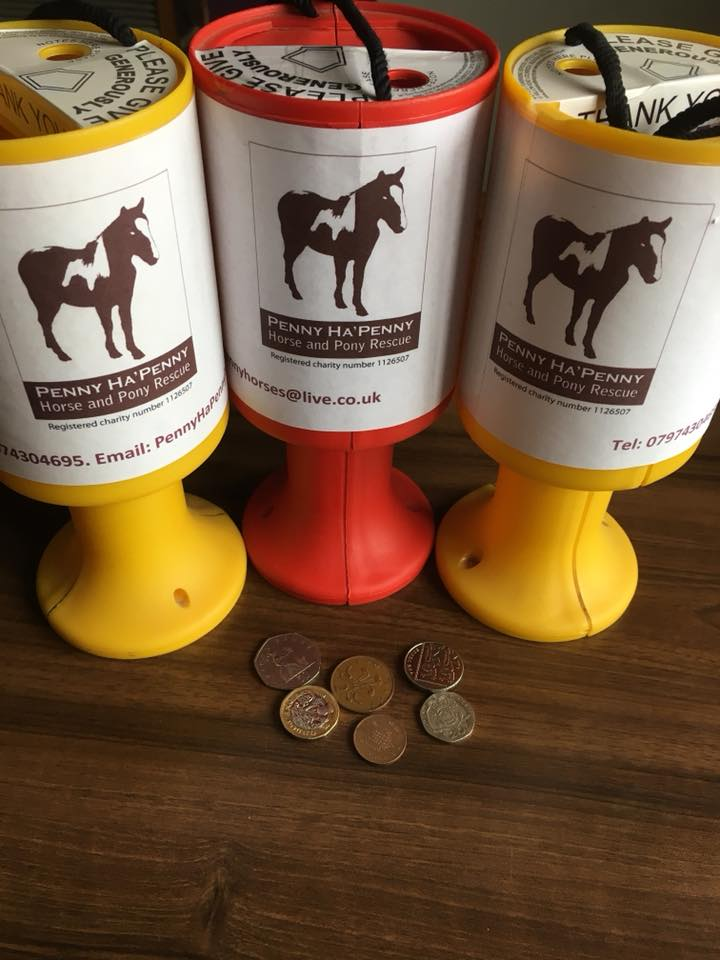 Charity collection tins
