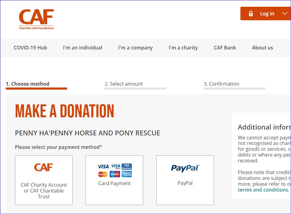 Horse rescue - image link to Charities aid foundation for Penny hapenny horse and pony rescue