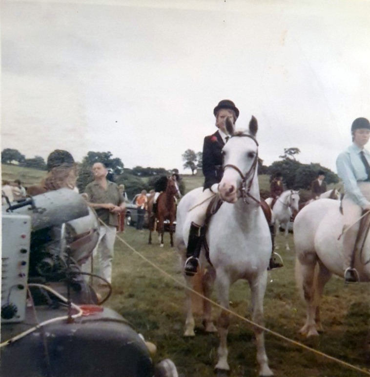 Teenager at a horse show in the 70's