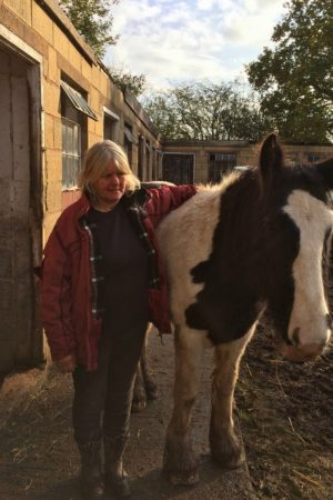 Rescue owner with pony